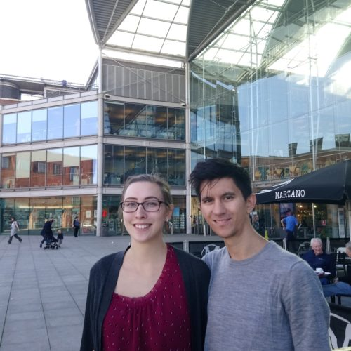 Madison Lai and Lutz Lai from Wichita Kansas worked on their start-up Vrume.co while travelling in Europe